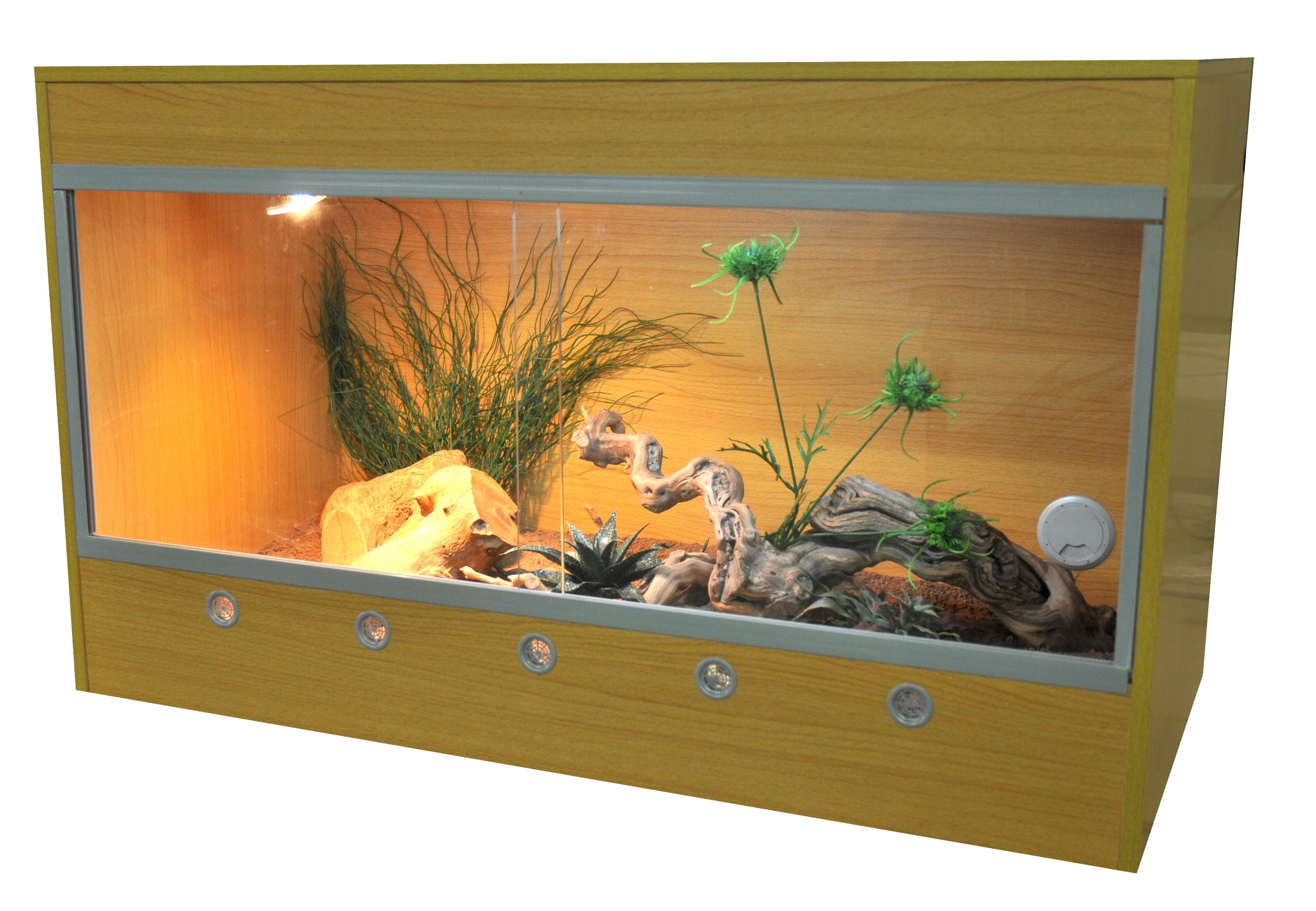 Holz-Terrarium von Lucky Reptile 80x50x100 (BxTxH)